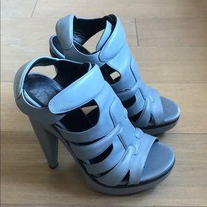 Balenciaga Shoes - Balenciaga size 37 pastel blue caged pumps